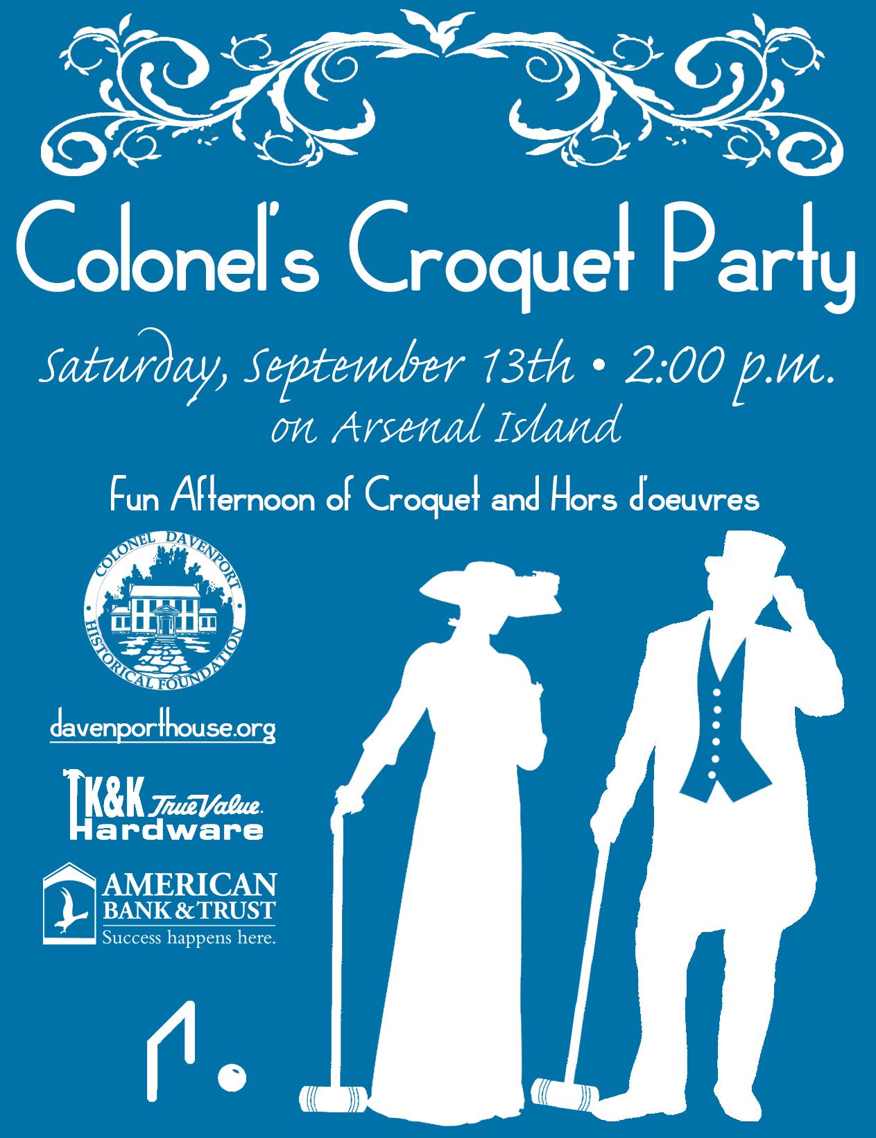 Eventbrite - NEW DATE Colonel's Croquet Party on Arsenal Island 2014